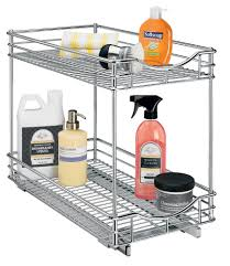 two tier cabinet organizer 11 inch in pull out baskets
