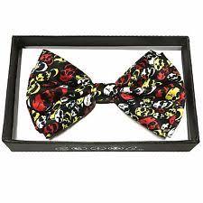 bow tie skull ties for men ebay