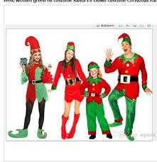 Elf Halloween Costumes Brand Halloween Party Cosplay Men Women Green Elf