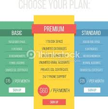 modern flat style pricing table template vector art thinkstock