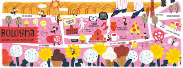 map of bologna map of bologna italy by aw illustrations they draw travel