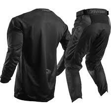 cool motocross gear thor 2017 mx new pulse blackout jersey pants black dirt bike