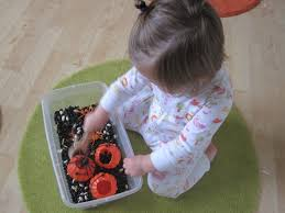 thanksgiving sensory bin halloween sensory tub for multiple ages no time for flash cards