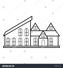 stylish house stylish house icon outline illustration house stock vector