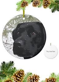 black lab ornament black lab art 13spl labrador ornament