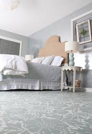 Painting Bedroom Ideas Goodbye Carpet Hello Stenciled Floor With Annie Sloan Chalk Paint