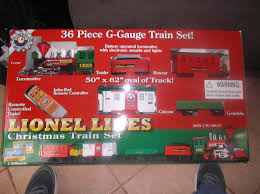 lionel lines 36 piece g gauge christmas train set remote control new