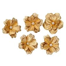 silver flowers buy siri creations gold foil small hibiscus flowers 0 5 1 5