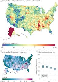 Time Change Map Usa by Disparities In Cancer Mortality Among Us Counties 1980 2014