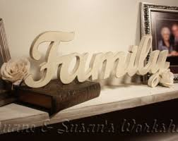 wooden wall decor word family family sign wooden
