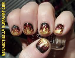 nails actually couldn u0027t resist hunger games flame nails