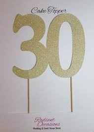 30 cake topper 30 cake topper glitter 30th birthday number 30 cupcake