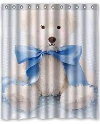 Teddy Shower Curtain Big Deal On Ganma Stylish Design Printed Teddy