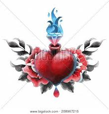rose heart tattoo images illustrations vectors rose heart