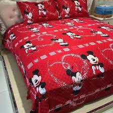 Mickey Duvet Cover 100 Cotton Linen Mickey Bedding Set U2013 Aladdinscave