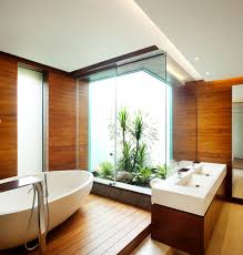 bathroom charming interior design for your wooden bathrooms full size of bathroom decorating ideas interior interactive brown wooden theme design using free standing soaking