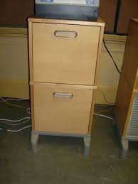 modern home office image with 2 drawer wooden filing cabinet