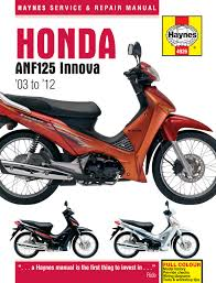 honda anf125 innova scooter 03 12 haynes repair manual