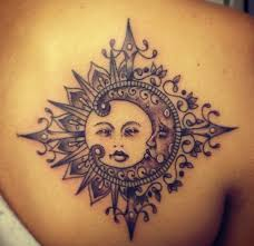 sun and moon on shoulder for jpg tattoos