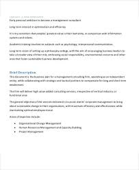 consulting business plan template business template