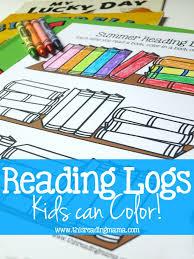 reading log kids color