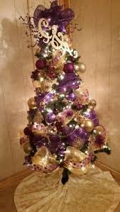 purple and gold ornaments for a bit of sparkle at a