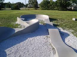 weird little pump track at the back of my local arc skateboarding