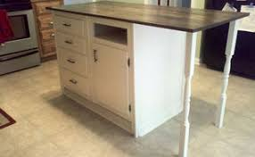 kitchen island from cabinets kitchen cabinet turned roll away cart moveable island hometalk