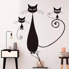 online get cheap mother mother vinyl aliexpress com alibaba group siamese cat mother and kittens wall stickers diy home decor removable vinyl living room sofa background