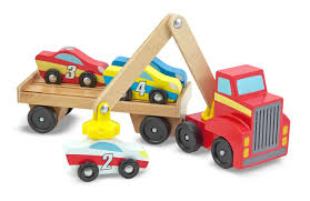 Making A Wooden Toy Truck by Amazon Com Melissa U0026 Doug Magnetic Car Loader Wooden Toy Set With