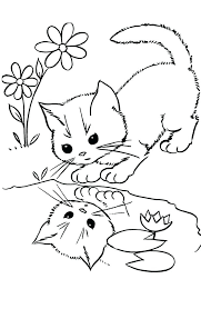 coloring page of a kitty coloring pages kittens baby cat coloring pages cute kitty coloring