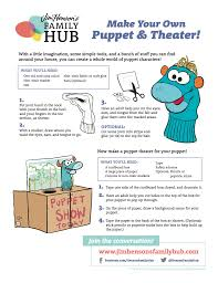 easy puppet crafts to do with your kids u2014 jim henson u0027s family hub