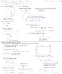 Quadratic Word Problems Worksheet With Answers Math Plane Derivative Max Min Word Problems