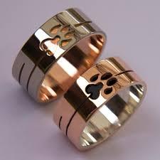 wolf wedding rings wolf and lynx doodem clan wedding rings