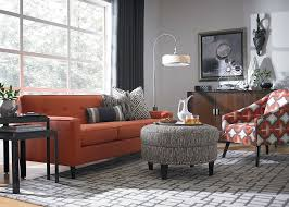 Living Room With Orange Sofa Burnt Orange Light Gray For Tv Room Home Sweet Home 3