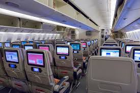 Boeing 777 Interior Boeing 777 Emirates Economy Class With Tv Touch Screen Editorial
