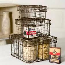 bathroom boxes baskets 3 metal wire nesting boxes baskets storage cubes bathroom kitchen