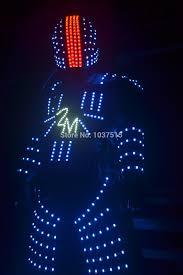 halloween light show aliexpress com buy robot suit led clothing dance men