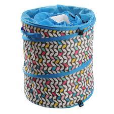 Popup Laundry Hamper by Typhoon Modern Butterfly Pop Up Blue Pink Laundry Storage Hamper