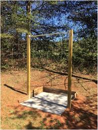 crossfit backyard pull up bar home outdoor decoration
