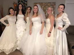 wedding dress party newly single woman hosts divorce party wearing wedding dress after