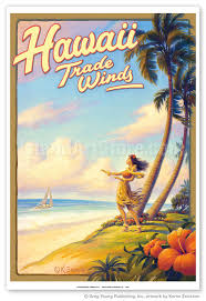 Hawaii Travel Art images Fine art prints posters hawaii trade winds hula dancer jpg