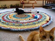 Crochet Rugs With Fabric Strips Coil Crochet Scrap Fabric Rug Diy Fabric Rug Scrap Fabric And