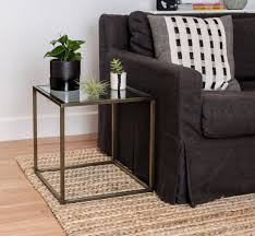 Coffee Table Cube Brass Side Table Cube Furniture Minimal End Tables For Loft