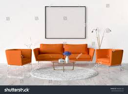 living room sofa two chairs table stock illustration 498466198