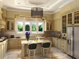 kitchen led lighted antique white kitchen cabinet with travertine