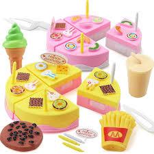 jeux enfant cuisine 11 pcs enfants cuisine jouets d anniversaire gâteau coupé jouets