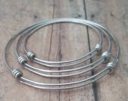 silver wire bangle bracelet images Wire bangle etsy jpg