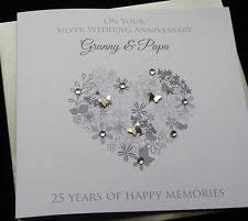 Anniversary Cards And Stationery Ebay Silver Wedding Anniversary Card Ebay
