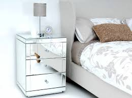 minimalist bedside table minimalist bedroom with mirrored three drawer bedside table and
